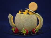Cantaloupmelontekanna Royaltyfri Fotografi