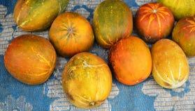 Cantalupo en el mercado tailandés foto de archivo libre de regalías