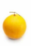 Cantalupo giallo sui precedenti bianchi Immagini Stock