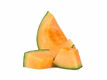 Cantalupo isolato su priorità bassa bianca Immagine Stock Libera da Diritti