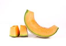Cantalupo no fundo branco Fotos de Stock Royalty Free