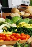 Cantalupos en el mercado de los granjeros Imagenes de archivo