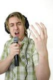 Cantando dal cuore Immagine Stock