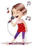 Cantante royalty illustrazione gratis
