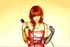 cantante fotografia stock