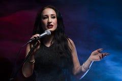 cantante Fotos de archivo