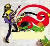 Cantante afroamericano del reggae libre illustration