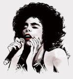 Cantante afroamericano di jazz Fotografia Stock Libera da Diritti