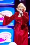 Cantante Aida Vedicsheva en etapa en concierto Imágenes de archivo libres de regalías
