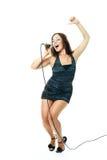 Cantante atractivo Foto de archivo libre de regalías