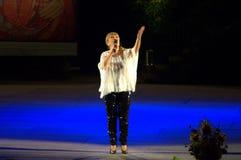 Cantante búlgaro Margarita Hranova Imágenes de archivo libres de regalías