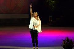 Cantante búlgaro Margarita Hranova Foto de archivo libre de regalías