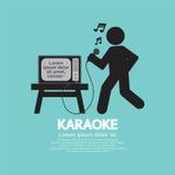 Cantante Black Symbol del Karaoke Imagen de archivo