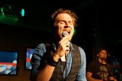 Cantante-Cantautore Johannes Oerding Fotografia Stock Libera da Diritti