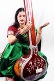 Cantante clásico indio Imagenes de archivo