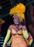 Cantante cubano del cabaret Fotografia Stock