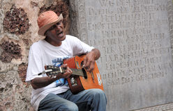 Cantante de la calle Imágenes de archivo libres de regalías