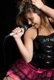 Cantante de la estrella del rock Imagen de archivo libre de regalías