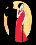 Cantante de la señora; vector Imagenes de archivo