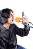 Cantante de Ringtone Imagen de archivo libre de regalías