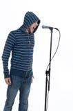 Cantante de roca con el micrófono Imagen de archivo libre de regalías