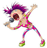 Cantante de sexo femenino del estallido Imagenes de archivo