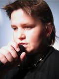 Cantante de sexo masculino Foto de archivo