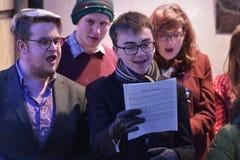 Cantante del coro Imagen de archivo libre de regalías