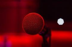 Cantante del microfono Fotografie Stock
