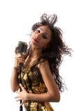 Cantante del pop star Immagini Stock Libere da Diritti