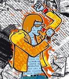 Cantante del punky del periódico libre illustration