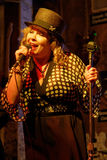 Cantante della donna in Clarksdale Fotografie Stock Libere da Diritti