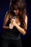 Cantante della ragazza fotografie stock
