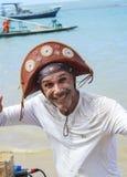 Cantante della spiaggia nel Brasile di nordest Fotografia Stock Libera da Diritti