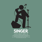 Cantante derecho Black Graphic Symbol Foto de archivo libre de regalías
