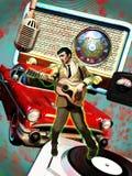 Cantante di anni '50 Fotografia Stock Libera da Diritti