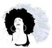 Cantante di jazz royalty illustrazione gratis