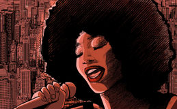 Cantante di jazz Fotografia Stock Libera da Diritti