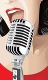 Cantante di schiocco Fotografia Stock Libera da Diritti