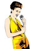 Cantante di signora; vettore Fotografie Stock Libere da Diritti