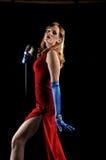 Cantante di torcia Fotografia Stock