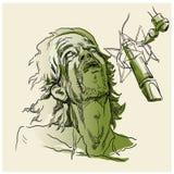 Cantante e microfono Fotografia Stock