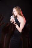 Cantante en la etapa Imagen de archivo libre de regalías