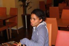 Cantante/escritor Nneka de la canción Imágenes de archivo libres de regalías
