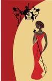 Cantante femminile Fotografia Stock