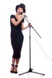 Cantante femminile afroamericano Fotografia Stock