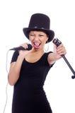 Cantante femminile afroamericano Immagine Stock Libera da Diritti