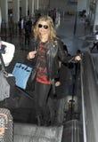 Cantante Fergie de Black Eyed Peas en LAX imágenes de archivo libres de regalías