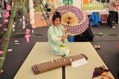 Cantante giapponese Fotografia Stock