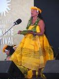 Cantante hawaiano de la compañía de la danza Fotografía de archivo libre de regalías